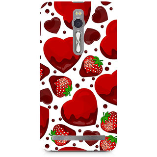 CopyCatz Strawberry And Hearts Premium Printed Case For Asus Zenfone 2
