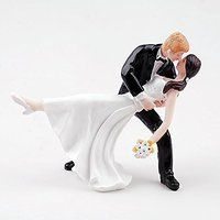 aokur Romantic Couples Bride and Groom Wedding Party Cake Topper of Dancing Tango Kiss for Decoration