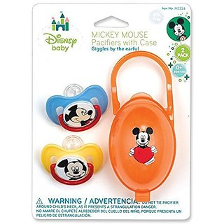 Mickey Mouse Pacifiers & Pacifier Case