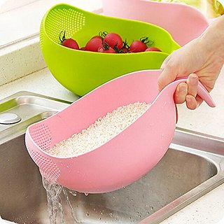 ShopAIS Multipurpose rice washing vegetable  fruit basket (ASSORTED COLOR WILL BE SEND)