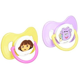 Nickelodeon Dora The Explorer Pacifiers  2 Pack