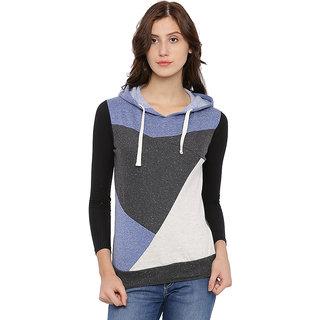 Campus Sutra Womens Multicolor Sweatshirt