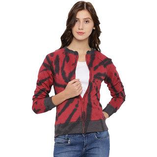 Campus Sutra Womens Maroon Sweatshirt