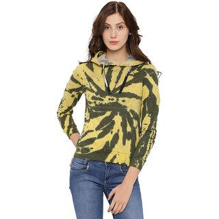 Campus Sutra Womens Yellow Sweatshirt
