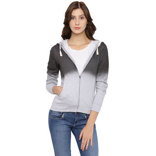 Campus Sutra Womens Gray Sweatshirt