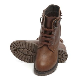 TEN Brown Ankle Length Leather Boots