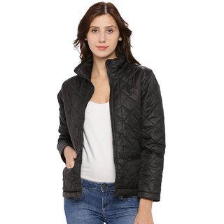 Campus Sutra Womens Black Jacket