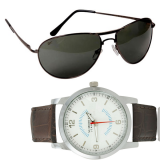 Reebok Premium Aviator Sunglasses And Get Free Numero Uno White Dial Watch