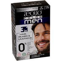 Aequo Color Men 1N Jet Black Organic Hair Colour Kit - 160ml