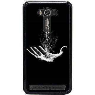 Fuson Designer Back Case Cover For Asus Zenfone 2 Laser ZE550KL (Palm Smoke Hand Fire Black)