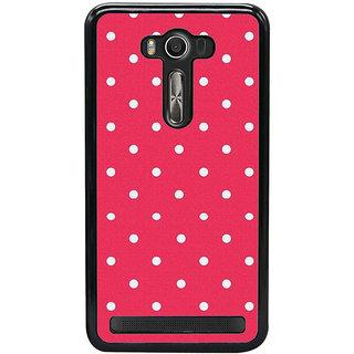 Fuson Designer Back Case Cover For Asus Zenfone 2 Laser ZE550KL (Red White Spots Reddish White Lovely)
