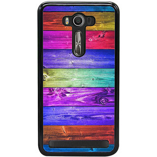Fuson Designer Back Case Cover For Asus Zenfone 2 Laser ZE550KL (Colourwood  Wooden Green  Door Entrance )