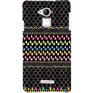 Snapdilla Black Background Good Looking Multi Coloured Droplets Unique Rangoli Mobile Cover For Coolpad Note 3
