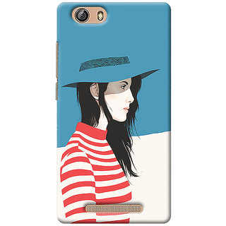 Blue Throat Back Cover For Gionee Marathon M5 Lite