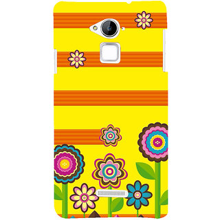Snapdilla Yellow Background Floral Clipart Cool Classic Brown Stripes Cute Smartphone Case For Coolpad Note 3