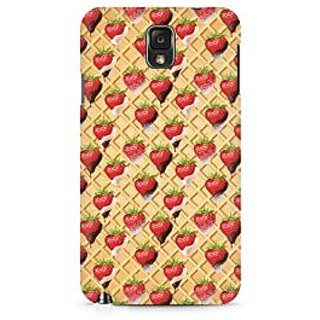 CopyCatz Strawberry Wafer Premium Printed Case For Samsung Note 3 N9006