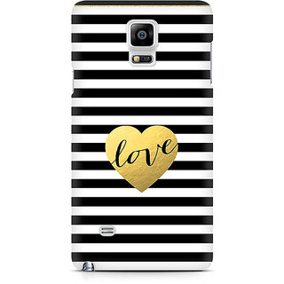 CopyCatz Black And White Gold Love Premium Printed Case For Samsung Note 4 N9108