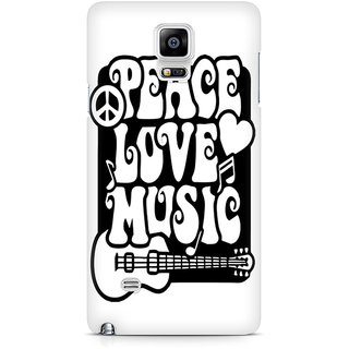 CopyCatz Peace Love Music Premium Printed Case For Samsung Note 4 N9108