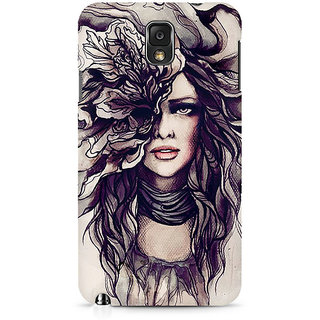 CopyCatz Crazy Hairy Girl Premium Printed Case For Samsung Note 3 N9006