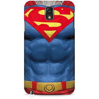CopyCatz Superman Body Premium Printed Case For Samsung Note 3 N9006