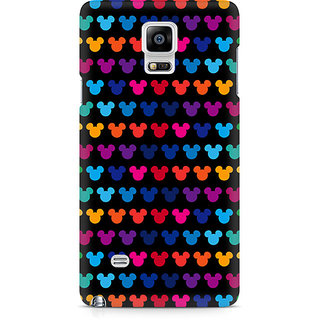 CopyCatz Mickie Mulitcolor On Black Premium Printed Case For Samsung Note 4 N9108