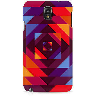 CopyCatz Concentric Squares Premium Printed Case For Samsung Note 3 N9006