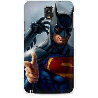 CopyCatz Superman With Batman Mask Premium Printed Case For Samsung Note 3 N9006