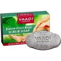 Vaadi Herbals Elbow-Foot-Knee Scrub Soap with Almond  Walnut Scrub (75 gms)