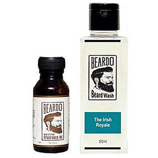 Beardo The Classic Beard Fragrance Hair Oil 10 ml AndBeardo The Irish Royale Beard Wash (50 ml) Combo.