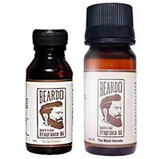Beardo Beard  Hair Fragrance Oil, The Old Fashioned (10ml) And Beardo Beard  Hair Fragrance Oil, The Black Velvette (30ml) Combo.