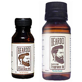 Beardo Beard  Hair Fragrance Oil, The Old Fashioned (10ml) And Beardo Beard  Hair Fragrance Oil, The Irish Royale (50ml) Combo.