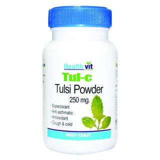HealthVit TUL-C Tulsi powder 250 mg 60 Capsules