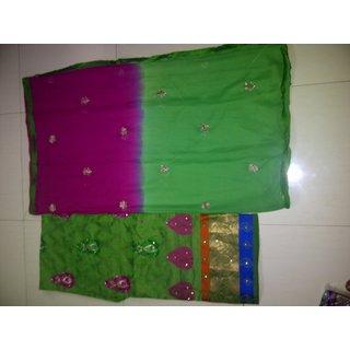 Designer Chanderi Cotton Party Wear Dress Material/ Suit/ Salwar Kameez
