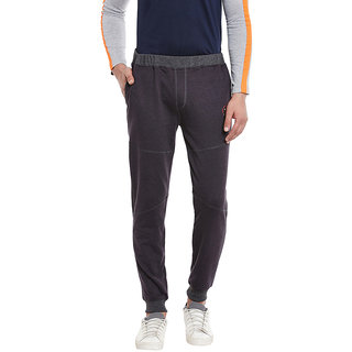 RIGO Charcoal French Terry Cut n Sew Panel Detailing SlimFIt Jogger