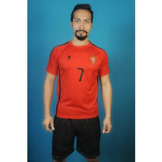 Portugal red football game set
