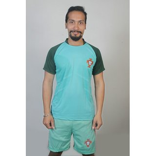 New Portugal home football jersey with shorts