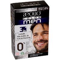 Aequo Color Men 4N Medium Brown Organic Hair Colour Kit - 160ml