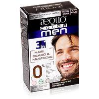 Aequo Color Men 4G Golden Brown Organic Hair Colour Kit - 160ml