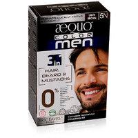 Aequo Color Men 5N Light Brown Organic Hair Colour Kit - 160ml