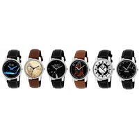 GUG Combo of 6 Men Watches