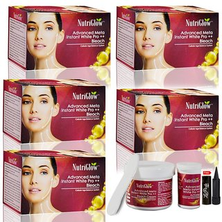 Nutriglow Advanced Meta Instant White Pro ++ Bleach (Pack Of 5)