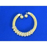 Golden White Stone Bracelet