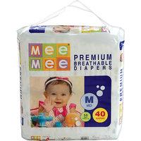 Mee Mee Premium Medium Size Diapers (40 Count)