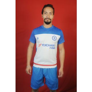 Dinnar fashion blue CHELSE football Jersey with shorts