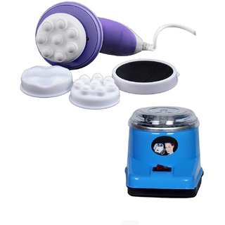 Electric oil Wax Heater and Manipol body massager