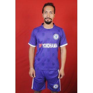 CHELSE football game set white shorts ( blue )