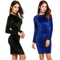 Pack of 2 Velvet Dress - Black and Blue