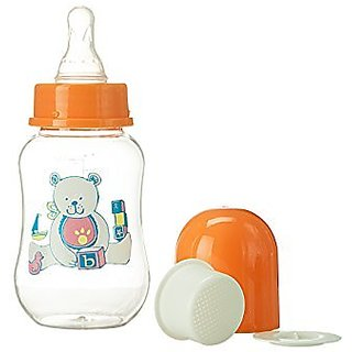 Abstract 6 Oz. Baby Feeding Bottle with Cover and Strainer 3 Pk