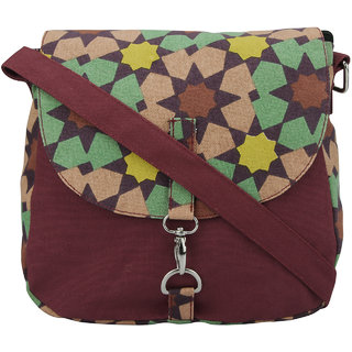 Vogue Tree Maroon Casual Sling Bags
