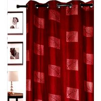 Furnix Printed Eyelet Door Curtain D.No. 3002- 1Pc